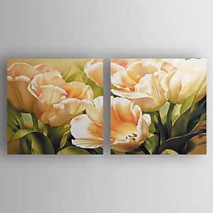 Hand-painted Oil Painting Floral Oversized Landscape Set of 2