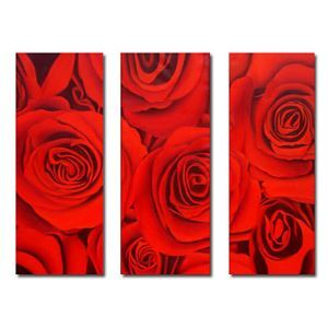 Hand-painted Oil Painting Floral Oversized Wide Set of 3