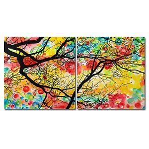 Hand Painted Oil Painting Floral - set of 2