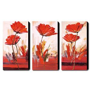Hand-painted Oil Painting Floral Set of 3 1211-FL0008