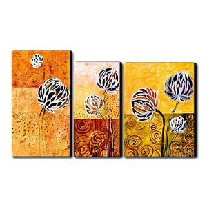 Hand Painted Oil Painting Floral Set of 3 1211-FL0032