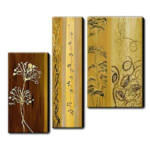 Hand Painted Oil Painting Floral Set of 3 1211-FL0042