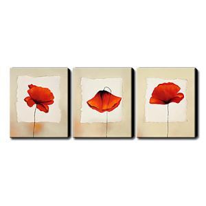 Hand Painted Oil Painting Floral Set of 3 1211-FL0043