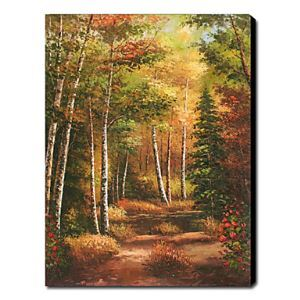 Hand Painted Oil Painting Landscape Colorful Trees 1211-LS0169