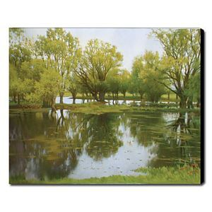 Hand Painted Oil Painting Landscape Green Trees 1211-LS0182