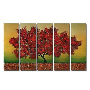 Hand-painted Oil Painting Landscape Oversized Wide Set of 5