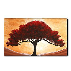Hand Painted Oil Painting Landscape Red Tree 1211-LS0041