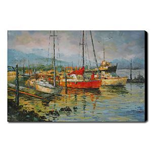 Hand Painted Oil Painting Landscape Seascape Vessels 1211-LS0207