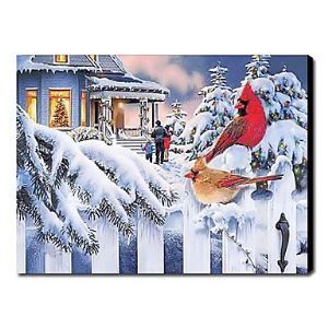 Hand-painted Oil Painting Landscape Christmas 1210-LS0006
