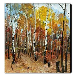Hand Painted Oil Painting Landscape Trees 1211-LS0173