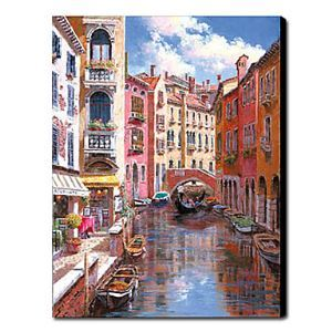 Hand Painted Oil Painting Landscape Venice 1211-LS0156