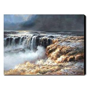 Hand Painted Oil Painting Landscape Waterfall 1211-LS0178