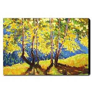 Hand Painted Oil Painting Landscape Yellow Trees 1211-LS0161