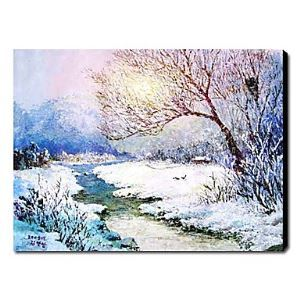 Hand-painted Oil Painting Landscape Christmas 1210-LS0008