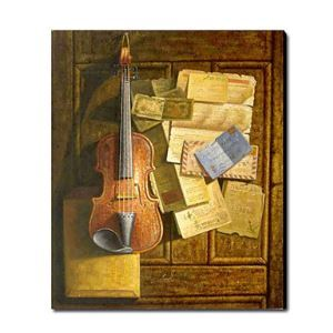 Hand Painted Oil Painting Still Life Musical Instrument1212-SL0039