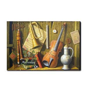 Hand Painted Oil Painting Still Life Musical Instrument1212-SL0041