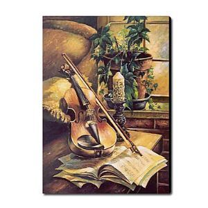 Hand Painted Oil Painting Still Life Musical Instrument1212-SL0042