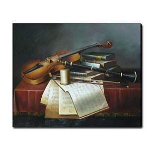 Hand Painted Oil Painting Still Life Musical Instrument1212-SL0045