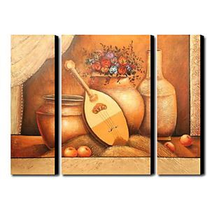Hand-painted Oil Painting Still Life Oversized Landscape Set of 3