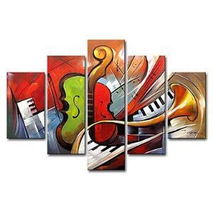 Hand-painted Oil Painting Still Life Oversized Wide Set of 5