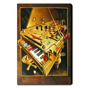 Hand Painted Oil Painting Still Life Piano 1211-SL0031