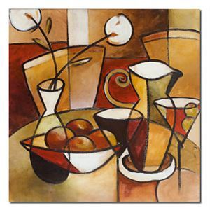 """Hand-painted Still Life Oil Painting with Stretched Frame 24"""" x 24"""""""