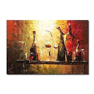 Hand-painted Still Life Oil Painting with Stretched Frame
