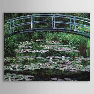 Hand-painted Oil Painting Bridge by Claude Monet without Frame