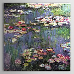 Hand-painted Oil Painting Water Lilies Claude Monet without Frame