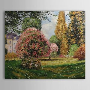 Hand-painted  The Parc Monceau,Paris Oil Painting by Claude Monet  without Frame
