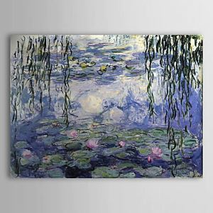 Hand-painted Oil Painting Water Lilies by Claude Monet without Frame