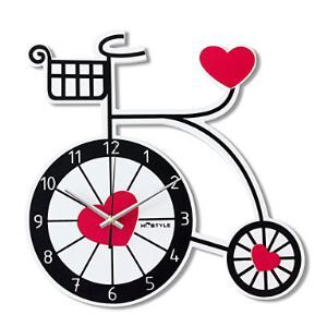 Heart and Bicycle Mute Wall Clock
