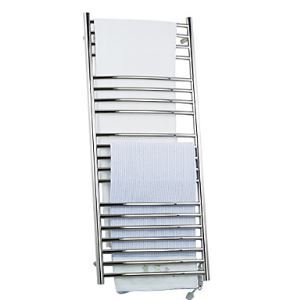 210W Stainless Steel Wall Mount Circular Tube Towel warmer Drying Rack