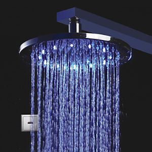 LED Chrome Automatic Cold Touchless Sensor Shower Faucet