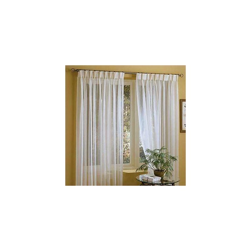 Linen Sheer Curtain Custom Solid White Window Treatment