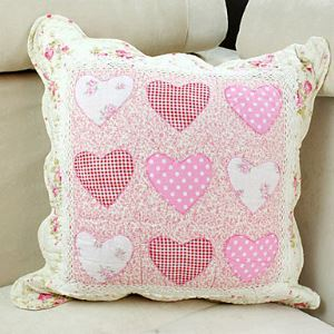 Lovely Hearts Cotton Decorative Pillow Cases