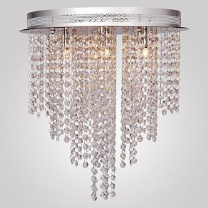 Luxuriant Flush Mount with 6 Lights in Crystal