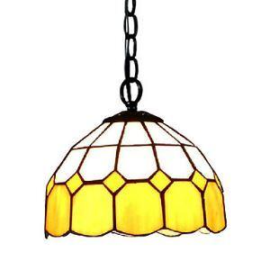 Mediterranean Yellow Mini Tiffany Pendant Light (0923-XCDS028)