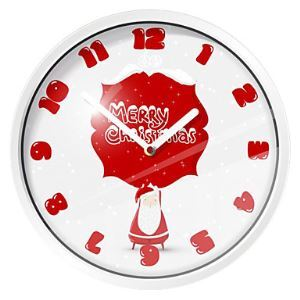 Merry Christmas Metal Wall Clock