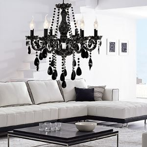 (In Stock)Modern Crystal Chandelier with 6 Lights