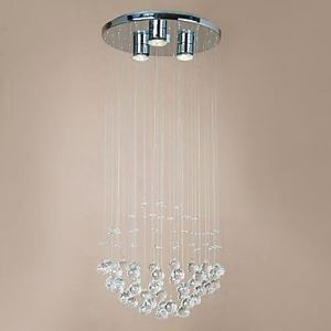 Modern 3 - Light Flush Mount with Crystal Beads