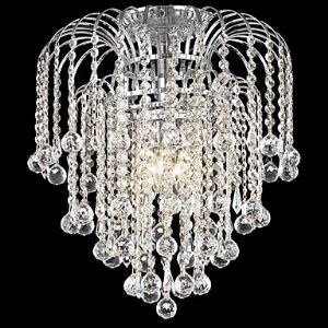 Modern 4 - Light Flush Mount Lights with Crystal Beads