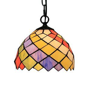 25W Tiffany Style Pendant Light Diamond Design