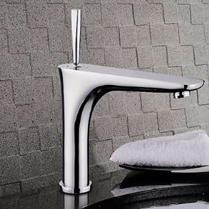 Modern Centerset 18CM Bathroom Sink Faucet (Chrome Finish)
