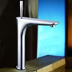 Modern Centerset 24CM Bathroom Sink Faucet (Tall) - Chrome Finish