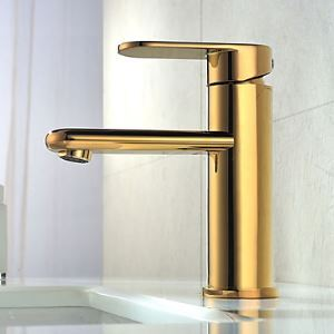 Modern Centerset Ti-PVD Finish Bathroom Sink Faucet