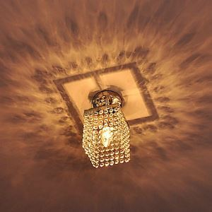 Modern Crystal Semi Flush Mount Ceiling Light