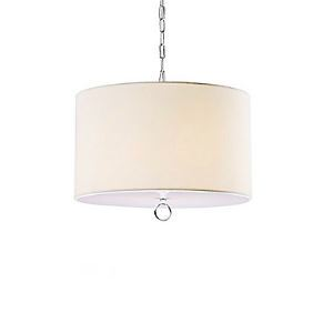 Modern Fabric Pendant Lights with 3 Lights Cylinder Design