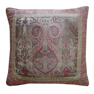 Modern Floral Jacquard Decorative Pillow Cover
