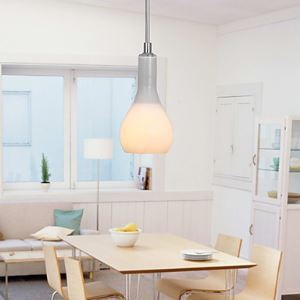 Contemporary Glass Pendant - Flower Vase Shape Design Dining Room Lighting Ideas Living Room Bedroom Lighting